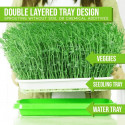Double Layer Microgreens Hydroponic Seedling / Nursery Tray